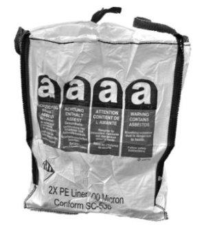 big bags zakken voor asbestverwijdering. Black Bedroom Furniture Sets. Home Design Ideas